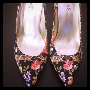 Guess Floral Heels